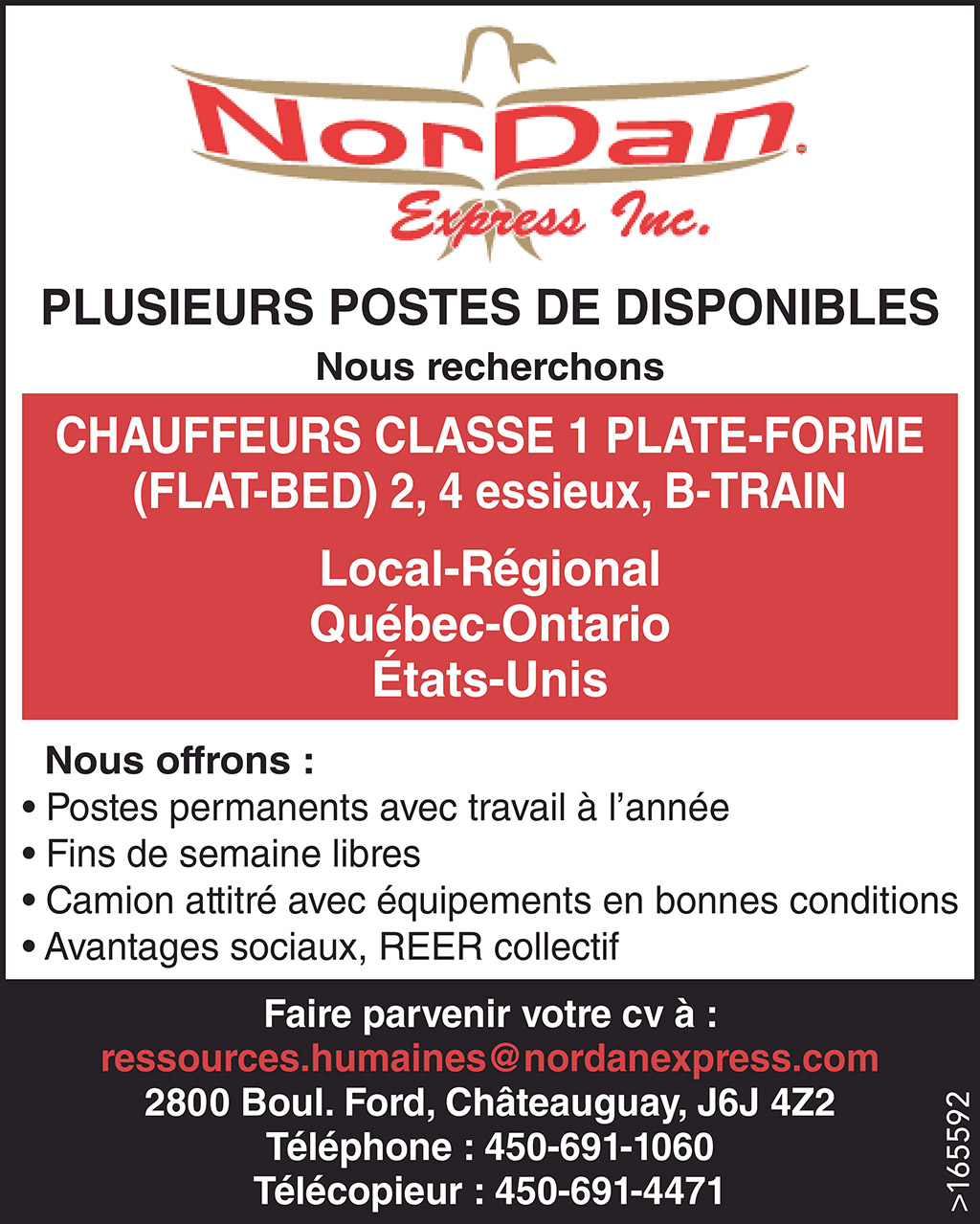 CHAUFFEURS CLASSE 1 PLATE-FORME (FLAT-BED) 2, 4 essieux, B-TRAIN